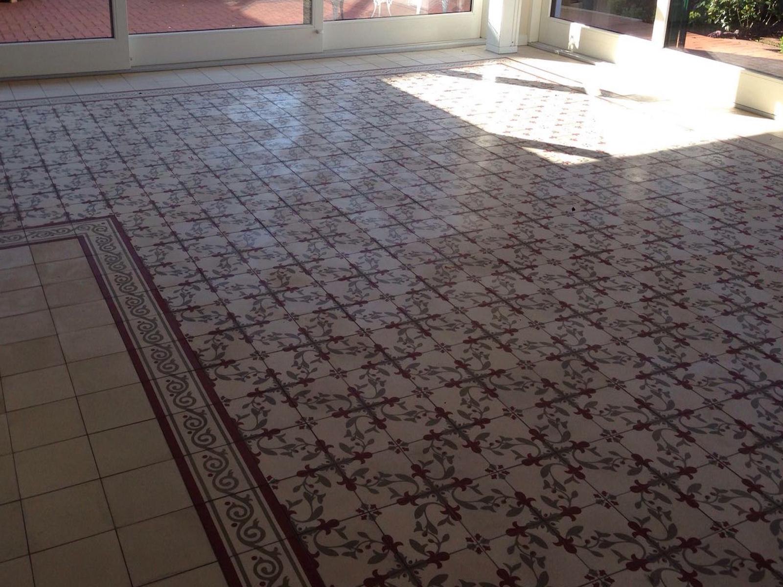 Fußboden Fliesen Polieren ~ Rcs steinbodensanierung zementfliese via fliesen rcs